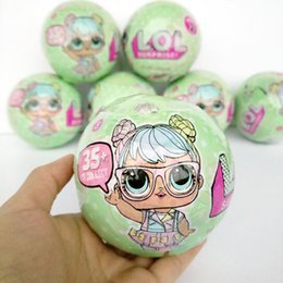 Wholesale 9 cm LOL Surprise Series Big Doll Girls Dress Change Tearing Open Cute Egg Doll Action Figure Toys For Children Bath Sets