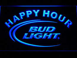 Bar lights online shopping - 601 Bud Light Lite Beer Bar Happy Hour LED Neon Light Sign Dropshipping Free Ship