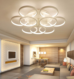 led ring ceiling pendant lamp 2021 - Newest Super-thin Led Circel Rings Pendant Light Round Ceiling Lamp Ring Chandelier discount led ring ceiling pendant la