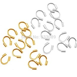 Discount wire cord protector - Wholesale-metal Wire Guard Guardian Protectors loops Jewelry findings 58-423 500pcs free shipping