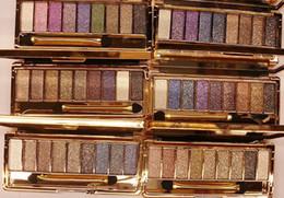 bright eyes 2019 - Dazzle Bright 9 Colors Eye Shadow Diamond Eyeshadow Palette Sootiness Makeup Cosmetic Brush Set kits drop shipping disco