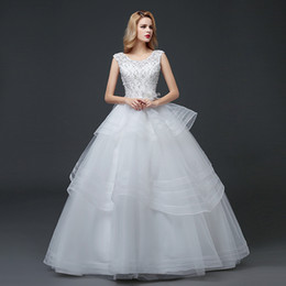 $enCountryForm.capitalKeyWord Canada - Shanghai Story Lace Wedding Dresses Tulle Ball Gown Wedding Dress With Handmade Pearls and Beaded 2017