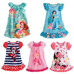 Nouveaux Costumes De Minnie Mouse Pas Cher-2015 nouvel été Filles enfants robe Minnie Costume Souris Princesse Pyjamas chemise de nuit de nuit Enfants du Parti de vêtements Dress A5 A5