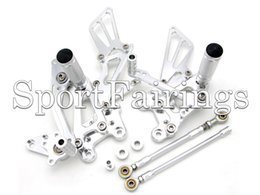 $enCountryForm.capitalKeyWord NZ - Black Silver Adjustable CNC Billet Rearset Rear Set Footrest Footpegs For Honda CBR600RR 03 04 05 06 CBR1000RR 04 05 06 07 Motorcycle