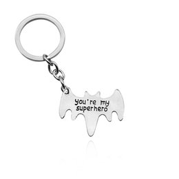 $enCountryForm.capitalKeyWord UK - Avengers accessories you are my superhero batman keychain to send husband daddy's boyfriend personality creative gift