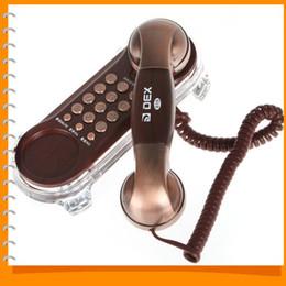 Venta al por mayor de Teléfono clásico delicado con cable Teléfono de línea residencial Teléfono con cable Teléfono de la oficina en casa con funciones básicas de diseño simple
