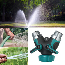 2 Ways All Metal Body Hose Splitter Bolted And Threaded For Outdoor Faucet  Sprinkler And Drip System Ball Valve Garden Water Hose Y Connecto
