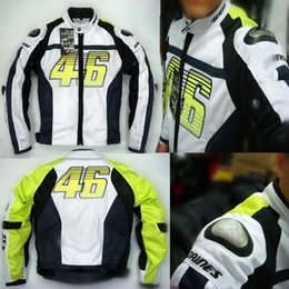 L Jackets NZ - 2015 new summer VR46 Rossi D1 motocross motorcycle clothes moto racing suits motorbike jackets made of titanium and mesh S M L XL XXL XXXL