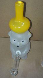 $enCountryForm.capitalKeyWord Canada - Glass Water Pipe Glass Bear Vapor Rig Percolator Cute Glass Smoking Pipe Honey Bear Glass Bong 14CM 14.5MM Joint 501092