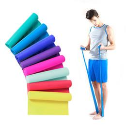 Suministros de gimnasia 1pc 1 .5m Elastic Yoga Pilates Resistencia al estiramiento de goma Ejercicios Gimnasio Bandas de resistencia de banda Expanders en venta