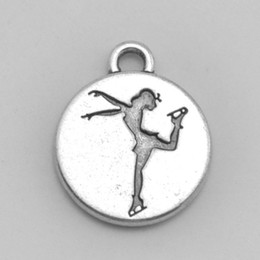 $enCountryForm.capitalKeyWord NZ - 30pcs diameter 15mm figure skating metal tibetan charm