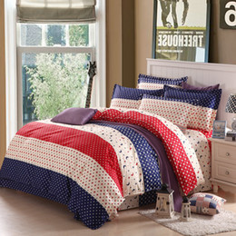 Extra long shEEts online shopping - Fashion home textile cotton Reactive Print Pc bedding sets include Duvet Cover Bed sheet Pillowcase