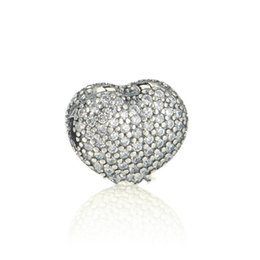Clip Charms Free Shipping NZ - Heart charms clips 925 sterling silver fits DIY bracelet free shipping hot sale KT090-N