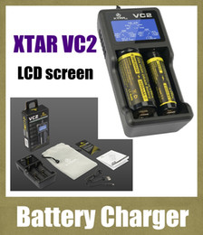 uk eu plug 2019 - 2015 NEW XTAR VC2 Universal 18650 usb chargers for Li-ion 26650 18500 18350 chargers Rechargeable battery Charger smart