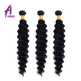 Best Curly Human Hair Extensions Canada - Brazilian Hair Weave Deep Curly Wave 100% Unprocessed Brazilian Human Hair Extensions Natural Color 10-30 inch Best Quality