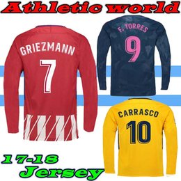 333e41b6d 17 18 Long sleeves KOKE GABI jersey GRIEZMANN Fernando HOME away 3rd RED F  TORRES AWAY GODIN CUSTOM 2017 2018 CARRASCO SAUL shirts supplier custom  long ...