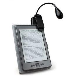 Novedad portátil Mini 2 LED libro luz 2 niveles brillo blanco Color Clip linterna flexible lámpara de mesa para lectura