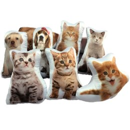 China Emulate animals 3D Cartoon Pillow cushion covers With Pillow core 30-60cm cute cat dog pillow Car Decor Factory direct sales Christmas gift cheap white suede fabric wholesale suppliers