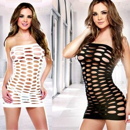 Barato Camisola Das Mulheres Sexy-MIXMIND Sexy Costumes Womens Mesh Chemise Dress Fishnet Lingerie BabyDoll Nighties Minidress Perspective Lingerie