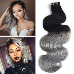 Discount thick wavy hair extensions 2017 thick wavy hair wavy silver grey ombre tape in remy hair extensions body wave thick and full 50g or 100g per pack 14inch to 26inch discount thick wavy hair extensions pmusecretfo Gallery