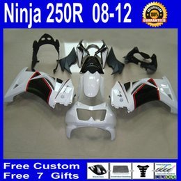 Red White Kawasaki Canada - N241 white black red fairings for Kawasaki Ninja 250R ZX250R ZX 250 2008 - 2012 EX250 08-12 bodywork