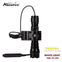 Vente en gros 501B lampe de poche tactique 2000 lumens T6 fusil de chasse torche éclairage de fusil de chasse Shot Gun Mount + support tactique + interrupteur à distance