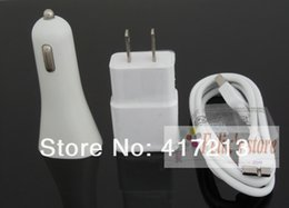 Note3 Data Cable Canada - Top Quality 3 in 1 Kit, 2A Wall Charger+Car Charger+Data Cable For Samsung Galaxy S5 I9600 Note3 N900 N9000, Free Shipping (10 sets )