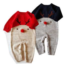 $enCountryForm.capitalKeyWord Canada - 2017 Christmas Clothes Knitted Sweaters Jumpsuits Baby Newborn Deer Knit Onesies Rompers Infants Toddlers Cotton Knitwear Sweaters Clothing