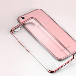 Discount vivo transparent phone - New Arrival Phone Cover For VIVO X20 X9 X9S Luxury Plating TPU silicone soft Transparent style cover for X20 Plus X9 Plu