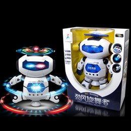 Electronics Dance Music Canada - New Design Electronic Walking Dancing Smart Space Robot Astronaut Kids Music Light Toys free shipping