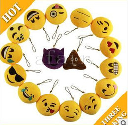 Video games for small kids online shopping - 2016 QQ Key Chains cm cm Emoji Smiley Small Keychain Emotion Yellow QQ Expression Stuffed Plush Doll Toy for Mobile Pendant key buckle