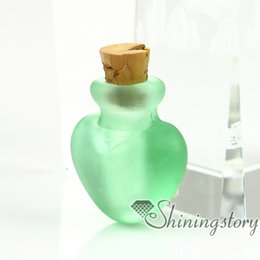 small cremation urns 2019 - small glass vials wholesale keepsake cremation urns jewelry ashes pet remembrance jewelry