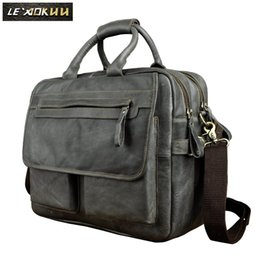 document holders UK - Genuine Leather Men Design Business Briefcase Laptop Document Case Fashion Commercia Portfolio Attache Messenger Bag Tote 2951b
