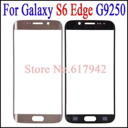 $enCountryForm.capitalKeyWord NZ - For Galaxy S6 Edge Glass lens Replacement Blue White Gold OEM Touch Screen Digitizer Cover for Samsung Galaxy S6 Edge G9250