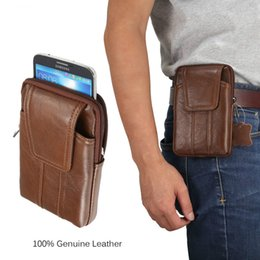 $enCountryForm.capitalKeyWord Canada - Genuine Leather Waist Bag for Iphone 8 7 6 6s 5 5s 4 Vintage Hip Bum Belt Pouch for Samsung S8 Plus S7 6 5 Bussiness Men 6.2''