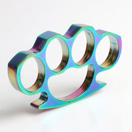 Metall Selbstverteidigungswerkzeuge Boutique Todesschwadronen Stahl Schlagring Farbe Messing Mehrfarbig