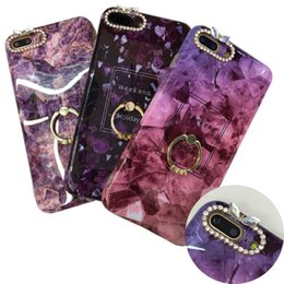 DiamonD Design for phone online shopping - Diamond Marble Design Case with kickstand Soft TPU Phone Shell For iPhone X S Plus