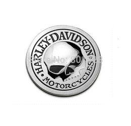 $enCountryForm.capitalKeyWord Canada - 1pc car decoration auto modification 3D metal round skull logo car sticker decal metal skull auto car badge rear emblem M3667