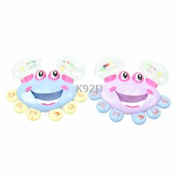 Handbell gifts online shopping - Musical Instrument Kids Baby Handbell Jingle Crab Design Shaking Rattle Toy Gift N01