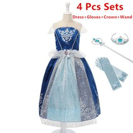 Traje De Cenicienta De Halloween Baratos-Las niñas al por menor Rapunzel Dress Sets Niños Princesa de verano Cosplay Disfraz Blancanieves Cenicienta Belle Tangled Halloween Party Dress