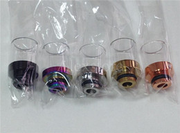 $enCountryForm.capitalKeyWord NZ - 5 colors Pyrex Glass clear driptip stainless steel copper gold black rainbow rda drip tip 510 rba ss Wide Bore Mouthpiece for atomizer DHL