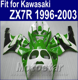 KawasaKi motorcycle fairing Kits zx7r online shopping - Motorcycle fairings set for Kawasaki ZX7R Ninja ZX R white black green customize fairing kit AQ49