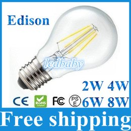 E27 tungstEn lamp online shopping - E27 Led Bulbs Light Energy Saving W W W W Tungsten Filament Led Lights Lamp Warm Cold White AC85 V With Clear Glass Cover