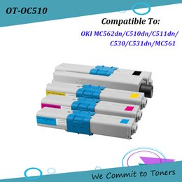 Discount toner for oki - OKI C510 , Compatible Toner Cartridge for OKI MC562dn C510dn C511dn C530 C531dn MC561, OKI 44469804,44469722-44469724 ;