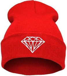 Chinese  FG1509 2015 wool hat knitted women caps hats Diamond Embroidery mens Skullies warm Beanies Unisex 21 Solid color Elastic 1994 hat cap manufacturers