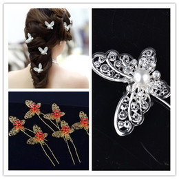 $enCountryForm.capitalKeyWord Canada - Butterfly Crystal Tiaras & Hair Accessories Shinning Silver Bridal Headpiece Wedding Pearl Hair Hairpin Free Shipping Comb 2015 New Arrival