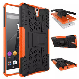Discount hybrid case for sony xa1 For Sony Xperia XA1 ULTRA XA2 ultra Dazzle 2 in 1 Hybrid KickStand Impact Rugged Heavy Duty TPU+PC Shock Proof Cover Cas