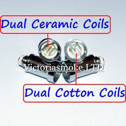 $enCountryForm.capitalKeyWord NZ - Cheapest Dual Coil For Wax Glass Globe Atomizer Clearomizer Double Ceramic Rod Coil Titanium Wick Glass Globe Replacement Coil Head eCigs