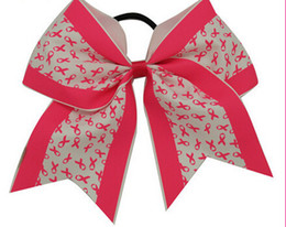 $enCountryForm.capitalKeyWord NZ - 15% off New Arrival High Quality 8Inch Baby Cheer Bows With Elastic Hair Bands Fashion Cheer Bow 5pcs hair accessories drop shipping