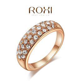$enCountryForm.capitalKeyWord Australia - Bling Bling Austrian Crystal Zircon Ring Brand New Women Wedding Engagement Ring Real 24K Rose Gold Filled Fashion Jewelry A046